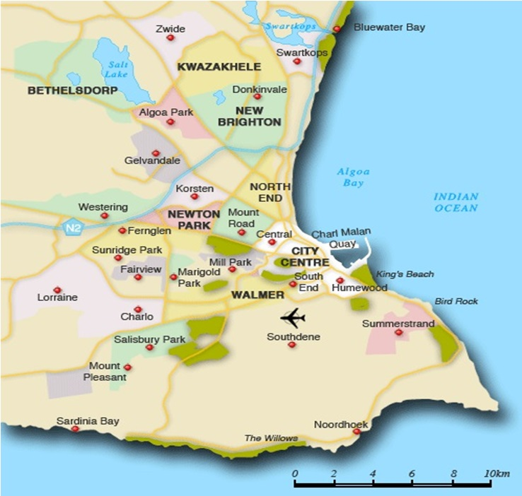Port Elizabeth Map